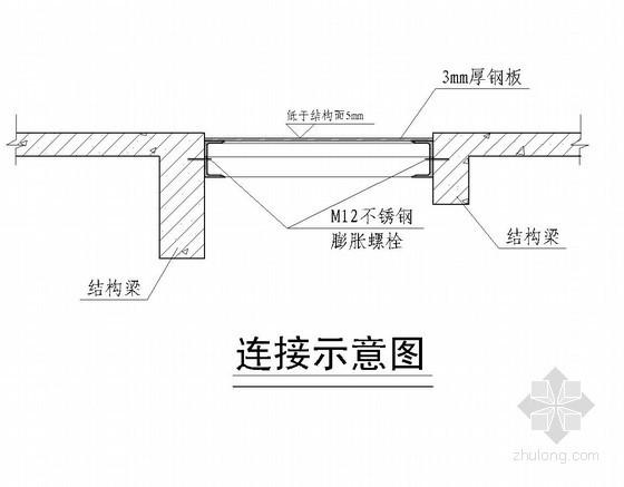 L型楼梯洞口钢结构封堵方案(CAD图)