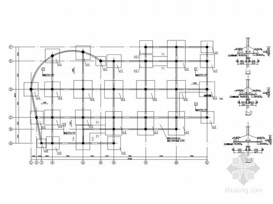 四层现浇板柱-剪力墙结构办公楼结构施工图(含建施)