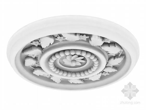 穿孔板铝板贴图资料下载-圆形装饰石膏板3D模型下载