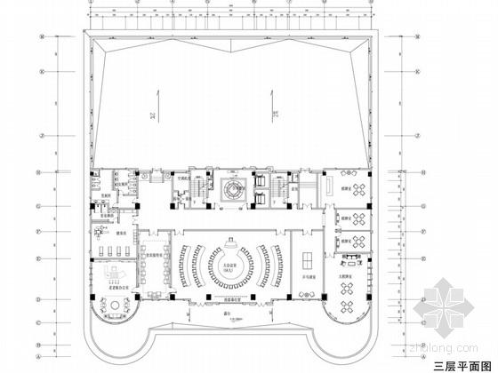 [苏州]奢华欧式风格商务会所三层健身娱乐区室内装修图(含效果)