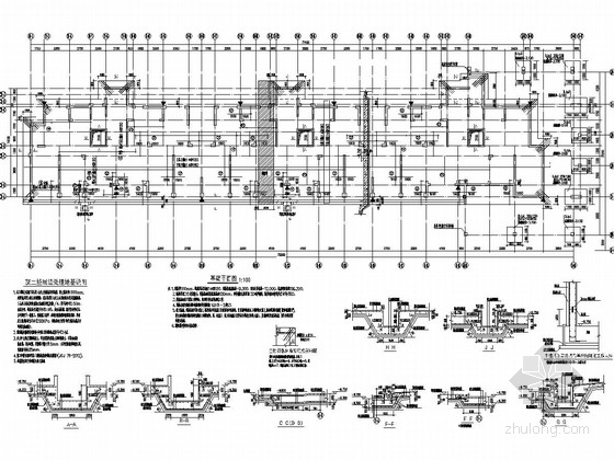 [河南]七层异形柱框架剪力墙结构住宅楼结构施工图