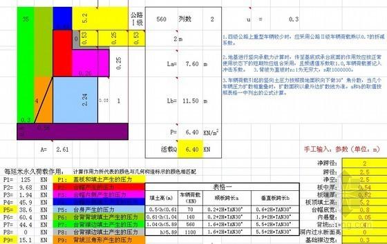 地基承载力计算表格