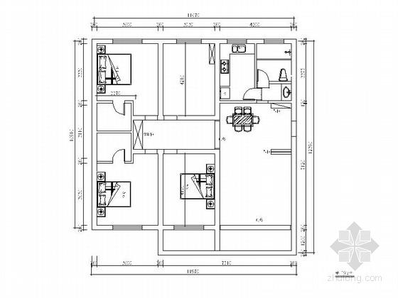 现代三居室公寓室内装修图(含效果图)