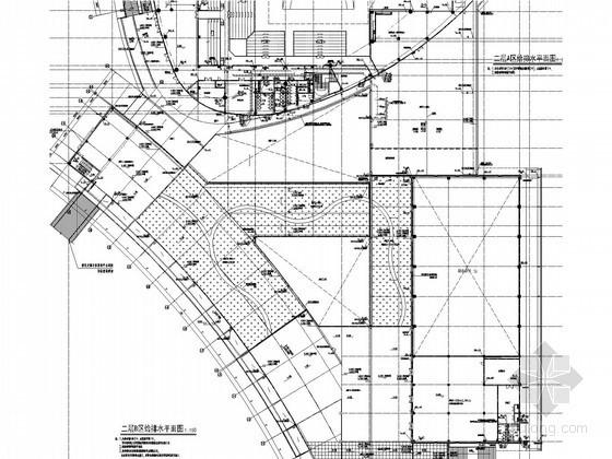 [福建]市体育中心给排水消防施工图(游泳馆 景观塔 虹吸雨水 雨水收集)