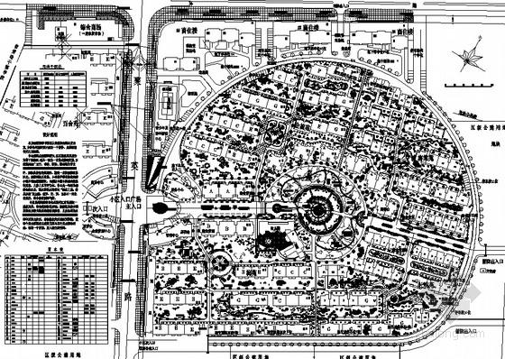 [杭州]花园住宅区园林景观工程施工图