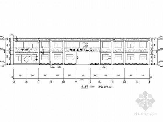 [聊城]两层砖混结构供电所办公楼结构施工图(含建筑图)