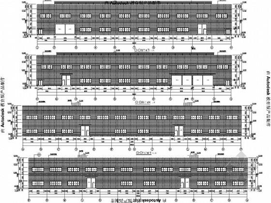 二层轻钢结构食品生产厂房及辅助用房结构图(含建筑图)