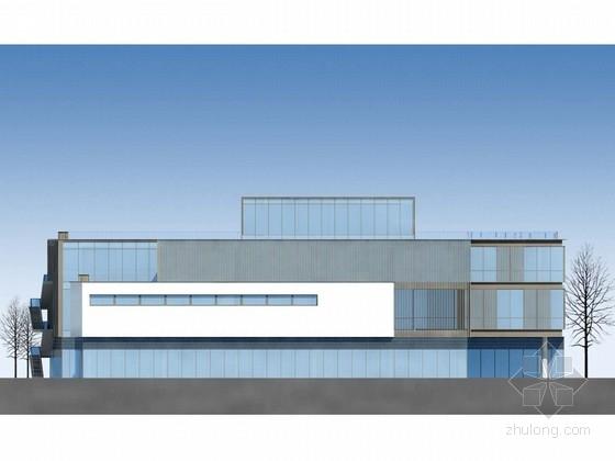 [四川]现代风格多层农贸市场建筑施工图(含效果图)