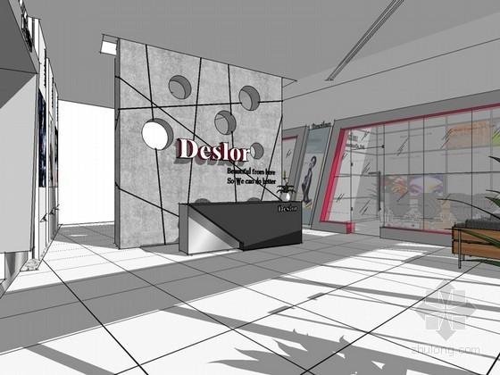 化妆品专卖店SketchUp模型下载