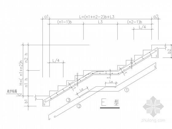 住宅楼板式楼梯通用节点构造详图