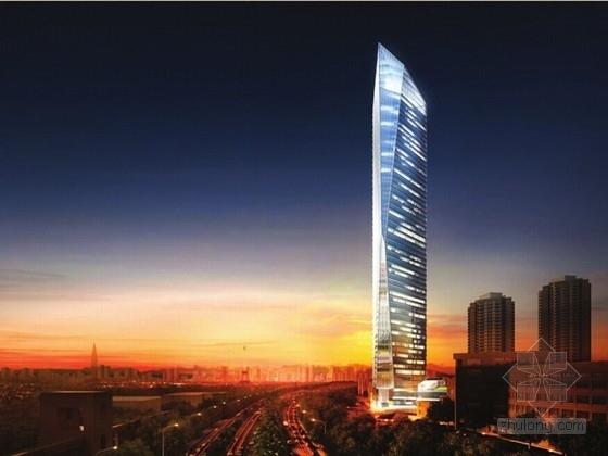[广东]60层带斜撑巨柱钢骨混凝土框筒结构综合大厦结施(300米 CAD与PDF双版本)