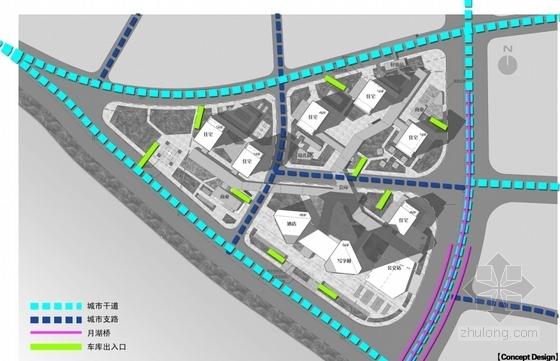 超高层现代风格城市综合体分析图