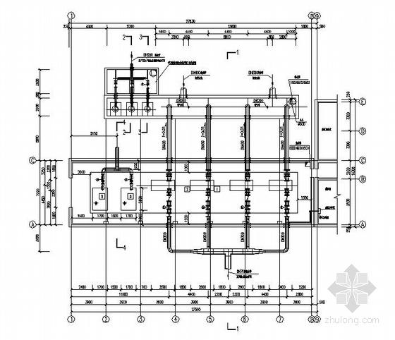 中水回用送水泵房及吸水井工艺图