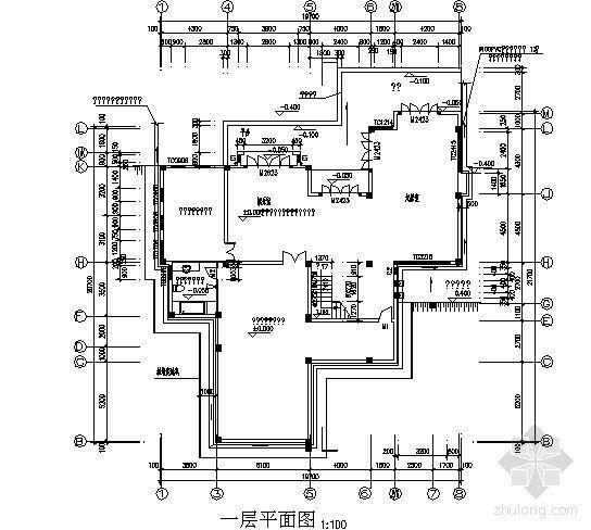 某三层别墅建筑方案图-3