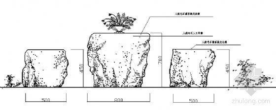 石质休息凳详图