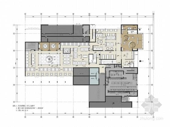 [杭州]国际连锁品牌新中式风格特色餐厅设计方案