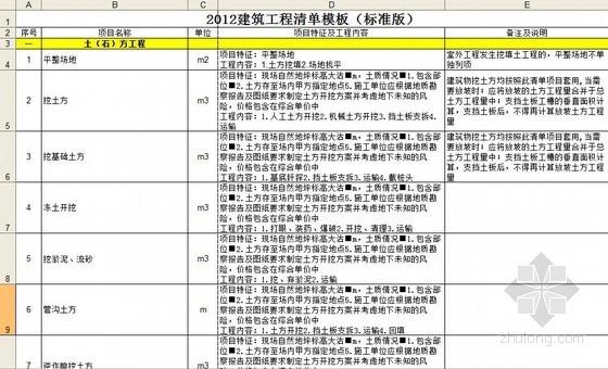 [天津]2012年工程量清单模板(各专业)