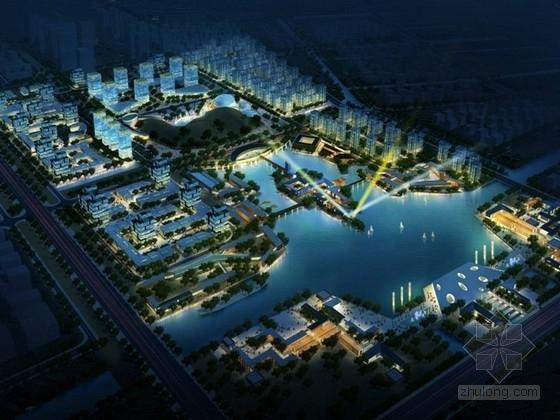 城市综合体鸟瞰图