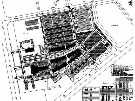 [哈尔滨]某汽车交易市场规划方案图