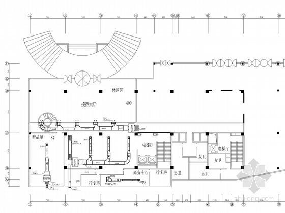 [北京]国际大酒店空调通风防排烟系统设计施工图(平面图全面)