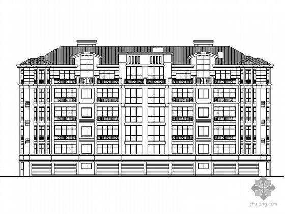 [浙江]某小区4栋六层底层架空住宅楼初步设计图