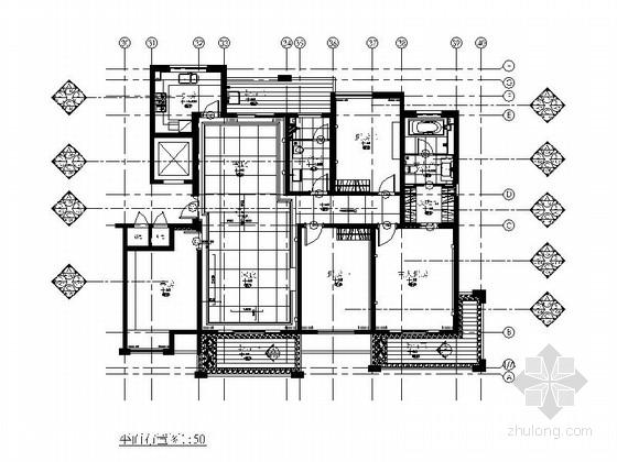 [绍兴]现代四居室A戶型样板房概念室内设计图(含软装)