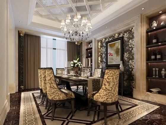 [山西]名师超大四居室古典住宅餐厅效果图