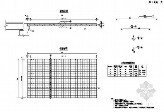 40m预应力混凝土连续T梁桥台搭板钢筋构造节点详图设计