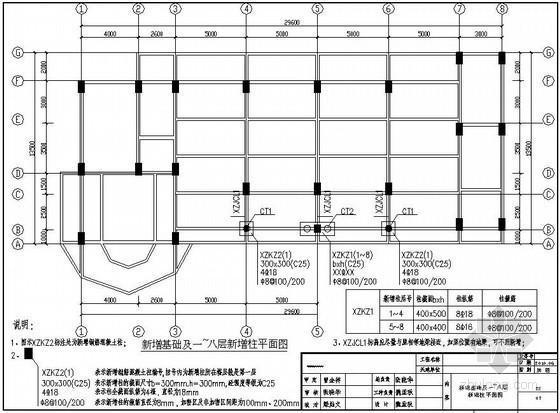 东莞某高校实训楼抗震加固设计图纸