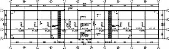 框架办公楼纯无梁楼盖地下车库结构施工图