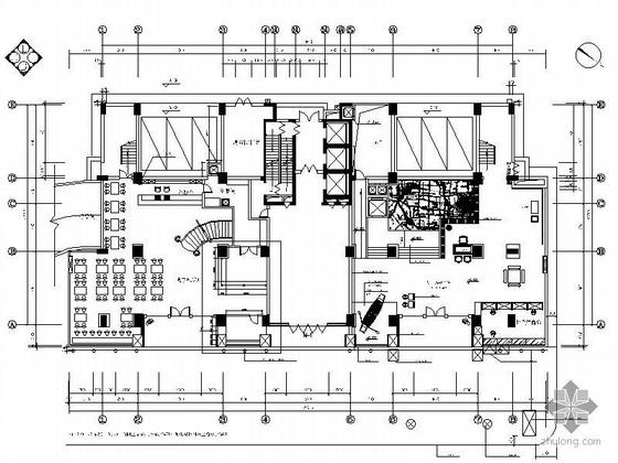 [武汉]中式特色酒店内装施工图(含装饰.水电消防.结构)