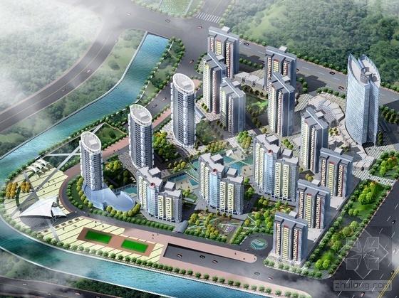 [天津]某区成熟现代住宅小区建筑方案设计(含户型、3个竞标模型、
