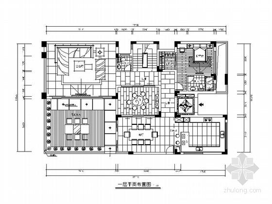 [杭州]欧式豪华3层别墅室内设计全套施工图