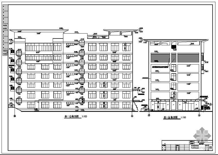 [学士]某7层框架办公楼毕业设计(含计算书、施工组织设计、建筑结构图)