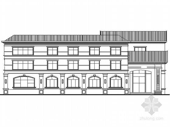 某小区三层简欧式会所建筑扩初图
