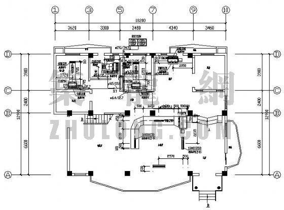 某别墅VRV空调平面图