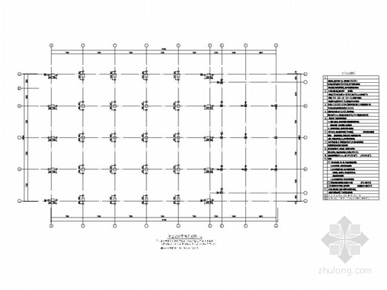 [安徽]地上二层空间网架屋面体育馆结构施工图(2015年07月出图)
