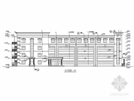 [学士]4层框架中学教学楼毕业设计(含建施、结施)