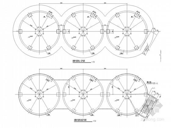 包装料仓钢筋混凝土结构施工图