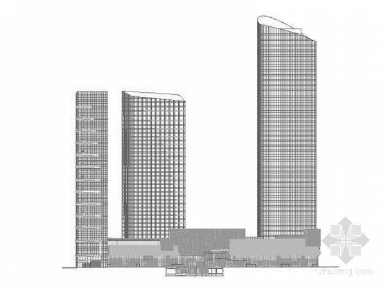 [湖北]超高层现代风格办公写字楼建筑施工图(知名设计院 2015年)
