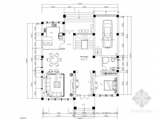 [泰州]顶尖湖景独栋别墅CAD施工图(含效果图)