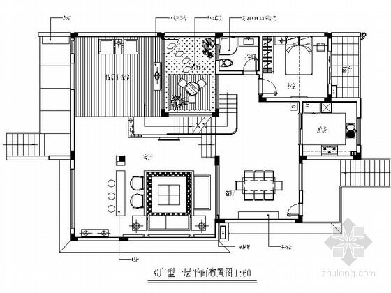 [瑞金]独创别墅群新古典中式三层别墅样板房装修图