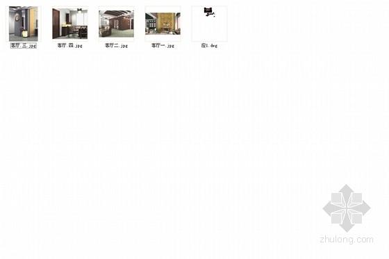 典雅中式二层别墅室内装修施工图(含效果图)总缩略图