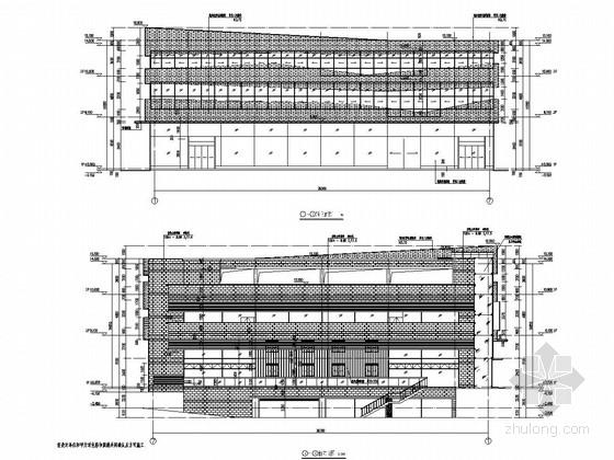 [哈雷4S店]三层框架结构施工图(含建筑图)