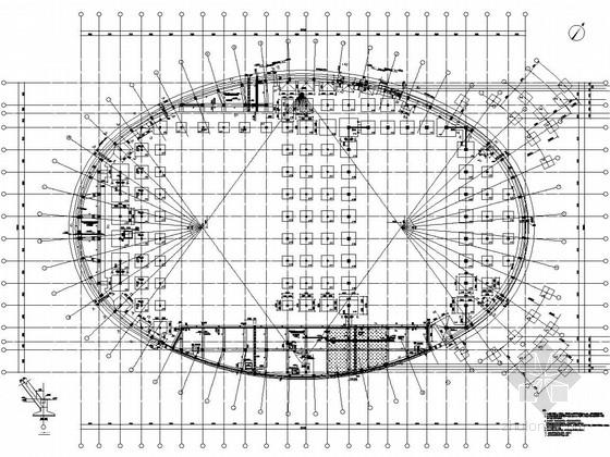 框架-钢支撑钢结构屋盖奥林匹克公园体育馆结构施工图