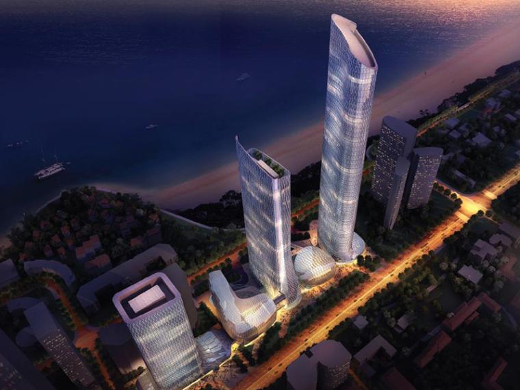 [山东]青岛KPF海天中心建筑方案设计文本(五星级酒店,商务写字楼)
