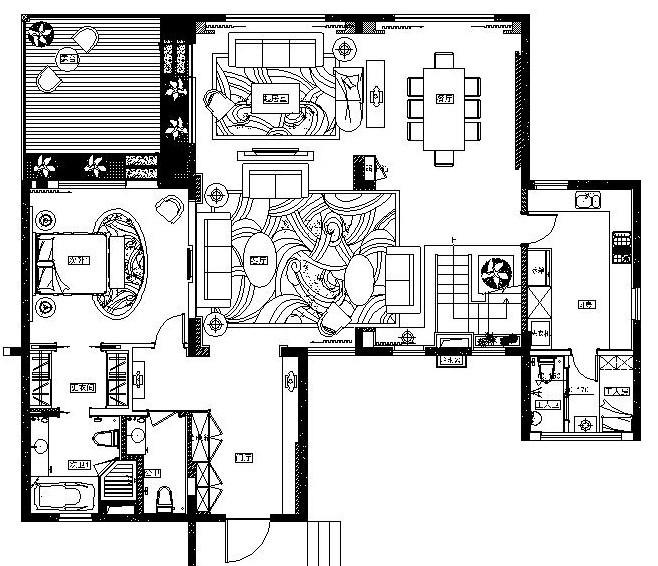 万科某豪宅样板别墅内部装修施工图(附效果图)