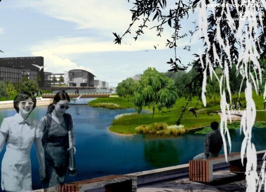 昆山花桥滨江带景观规划设计方案-05效果图