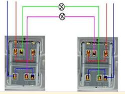 双控开关接线图的三种接法