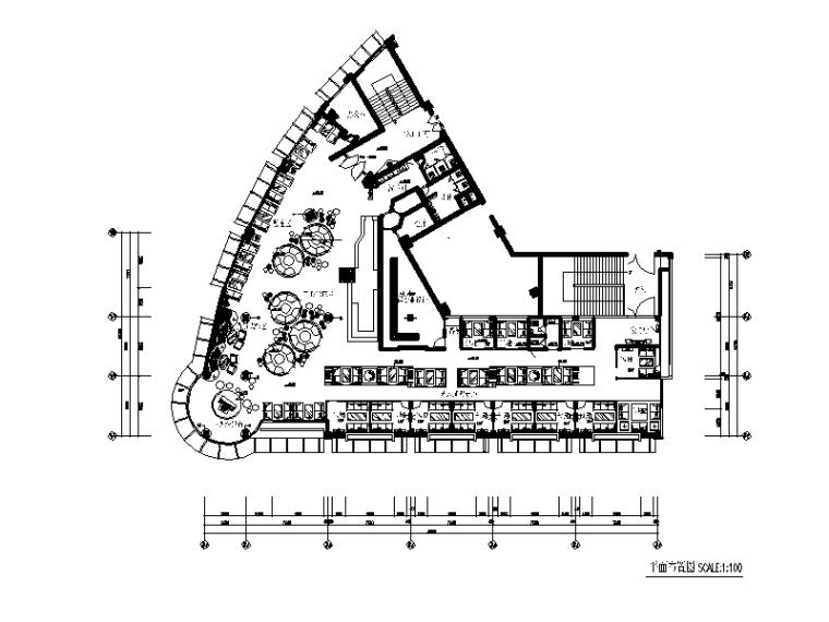 某现代风格西餐厅设计cad施工图(含实景图)